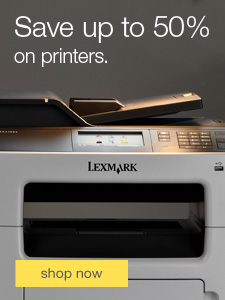 Save up to 50% on printers.