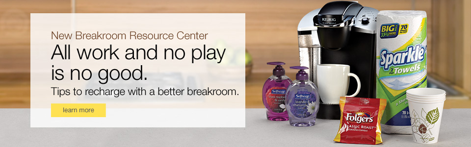 New Breakroom Resource Center. Tips to recharge with a better breakroom.