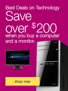 Best Deals on Technology. Save over $200 when you buy a computer and a monitor.