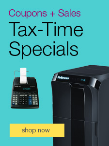 Coupon + Sales - Tax-Time Specials