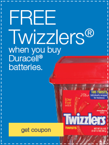 FREE Twizzlers® when you buy Duracell® batteries.