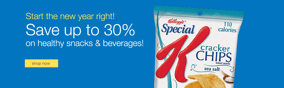 Save up to 30% on healthy snacks & beverages!