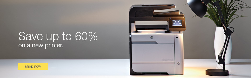Save up to 60% on a new printer.