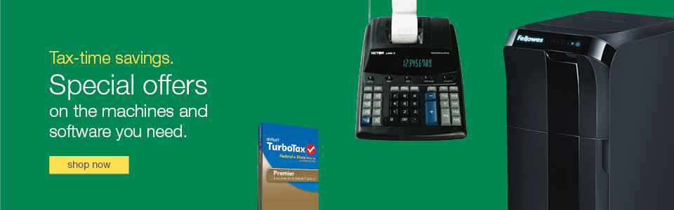 Tax-time savings. Special offers on the machines and software you need.