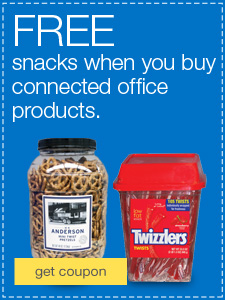 FREE snacks when you buy Connected Office products.