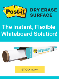 Dry Erase Surface. The Instant, Flexible Whiteboard Solution!