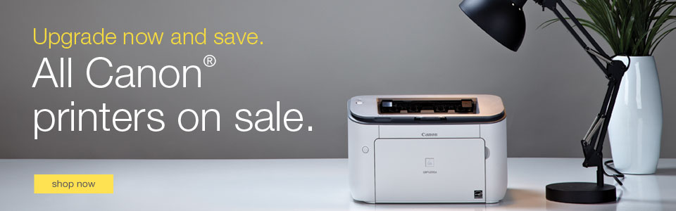 Upgrade now and save. All Canon printers on sale.