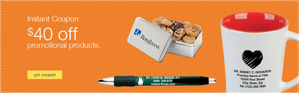 Instant Coupon. $40 off promotional products.