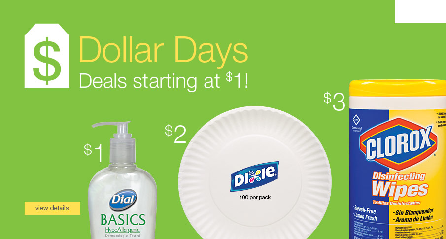 Dollar Days - Deals starting at $1.