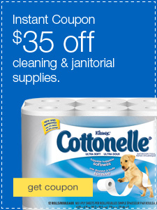 $35 off cleaning & janitorial supplies.