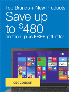 Top Brands + New Products. Save up to $480 on tech, plus FREE gift offer.