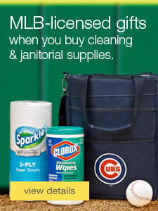 MLB-licensed gifts when you buy cleaning & janitorial supplies.
