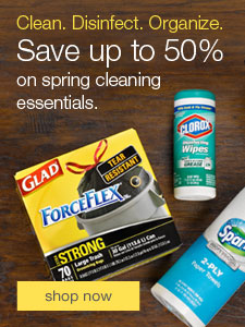 Clean. Disinfect. Organize. Save up to 50% on spring cleaning essentials.