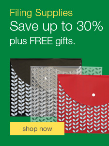 Save up to 30% on filing and storage, plus FREE gift offers.