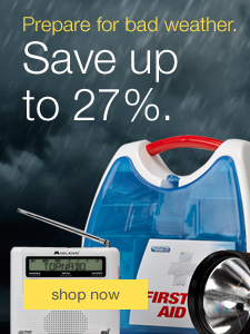Prepare for bad weather. Save up to 27% and keep your business safe.