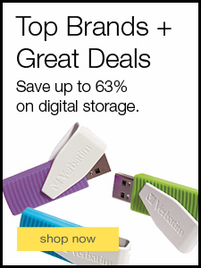 Top Brands + Great Deals. Save up to 63% on digital storage.