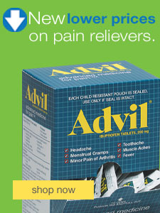 New lower prices on pain relievers.