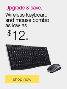 Upgrade & save. Wireless keyboard and mouse combo as low as $12.