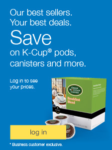 Our best sellers. Your best deals. Save on K-Cup Pods, canisters and more. Business customer exclusive. Login to see your prices.