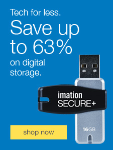 Tech for less. Save up to 63% on digital storage.