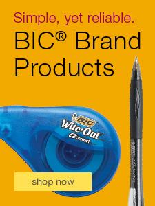 Simple, yet reliable. BIC Brand Products