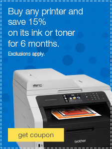 Buy any printer and save 15% on its ink or toner for 6 months. Exclusions apply.