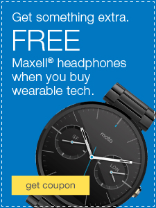 Get something extra. FREE Koss Stereophones when you buy wearable tech.