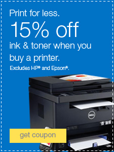 Print for less. 15% off ink & toner when you buy a printer. Excludes HP® and Epson®.