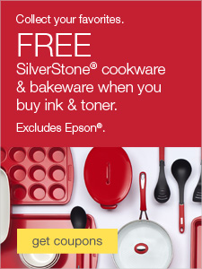Collect your favorites. FREE SilverStone® cookware & bakeware when you buy ink & toner.
