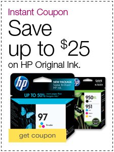 Save up to $25 on HP Original Ink.