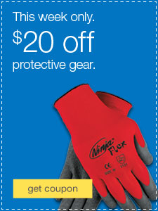 This week only. $20 off protective gear.