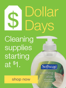 Dollar Days. Cleaning supplies starting at $1.
