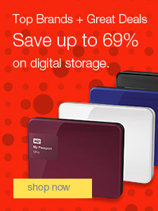 Top Brands + Great Deals. Save up to 69% on digital storage.
