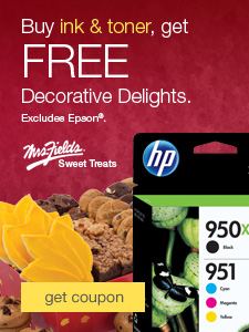 FREE Decorative Delights when you buy ink & toner. Excludes Epson®.
