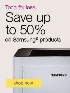 Tech for less. Save up to 50% on Samsung® products.