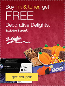 Mrs. Fields® Sweet Treats. Buy ink & toner, get FREE Decorative Delights. Excludes Epson®.