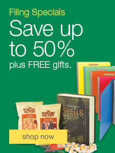 Filing Specials. Save up to 50% plus FREE gifts.