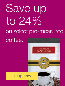 Perfect cup. Every time. Save up to 24% on select pre-measured coffee.