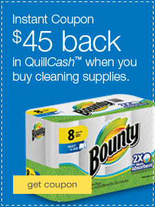 $45 back in QuillCash™ when you buy cleaning supplies.