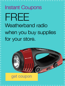 FREE Weatherband radio when you buy supplies for your store.