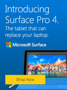 Introducing Surface Pro 4. The tablet that can replace your laptop.