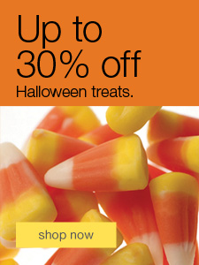 Up to 30% off Halloween treats.