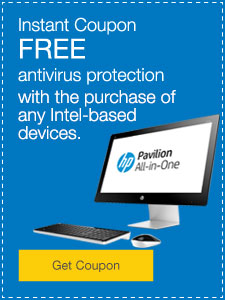 FREE antivirus protection with any Intel® purchase.