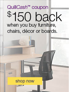 Quillcash™ coupon. $150 back when you buy furniture, chairs, decor or boards.