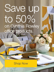 Save up to 50% on Cynthia Rowley office products.