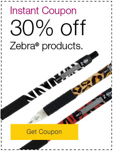 Instant Coupon - Save 30% on Zebra® products.