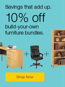 10% off build-your-own furniture bundles.