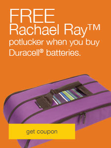 FREE Rachael Ray™ potlucker when you buy Duracell® batteries.