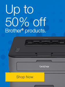 Up to 50% off Brother® products.