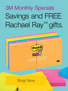 3M Monthly Specials Savings and FREE Rachael Ray™ gifts.